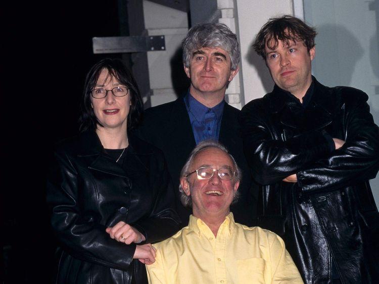 Pauline McLynn, Dermot Morgan, Frank Kelly and Ardal O'Hanlon