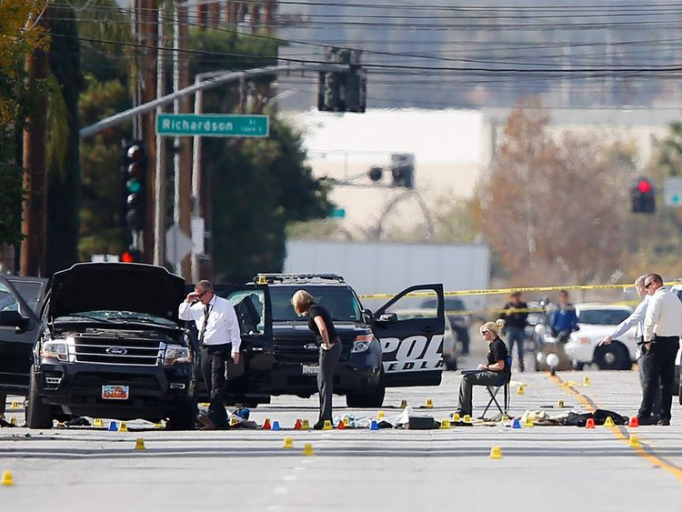 San Bernardino Mourns After Couple's Gun Spree