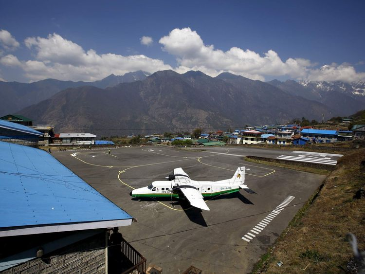 File picture shows a Twin Otter aircraft belonging to Tara Air is pictured at Tenzing Hillary Airport, in Lukla, approximately 2800 meters above sea level, in Solukhumbu district, Nepal