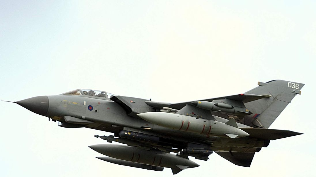 A British RAF Tornado GR4 ground attack