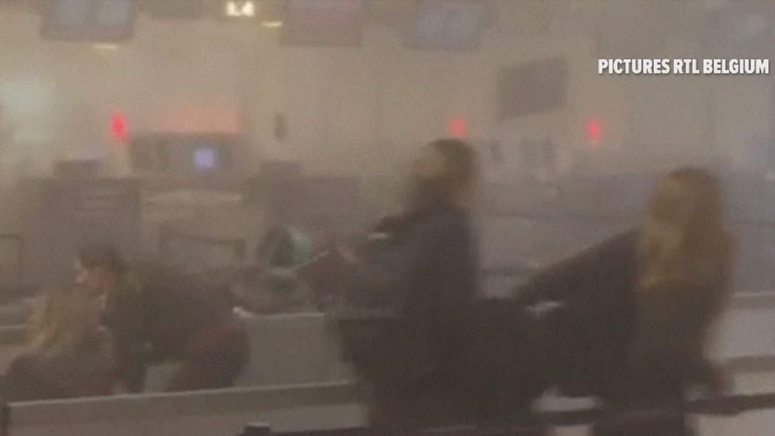 brussels airport seconds after blast