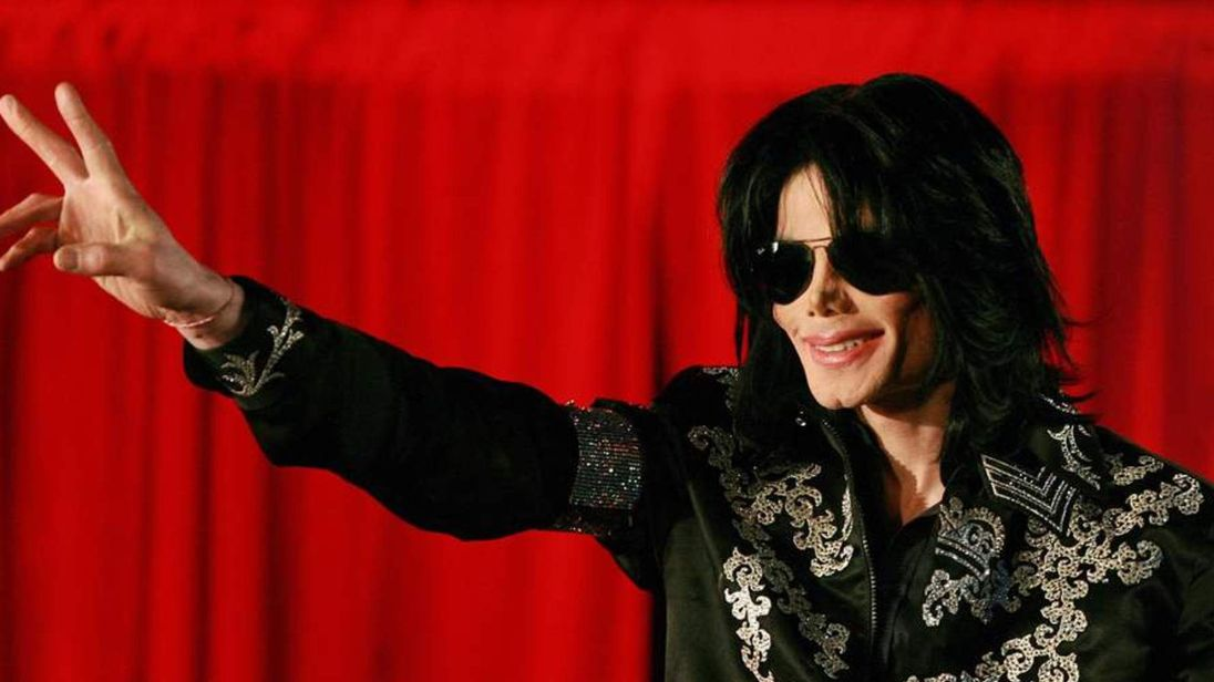 US popstar Michael Jackson addresses a p