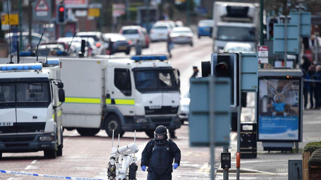 Under-car explosion in Belfast injures a prison officer