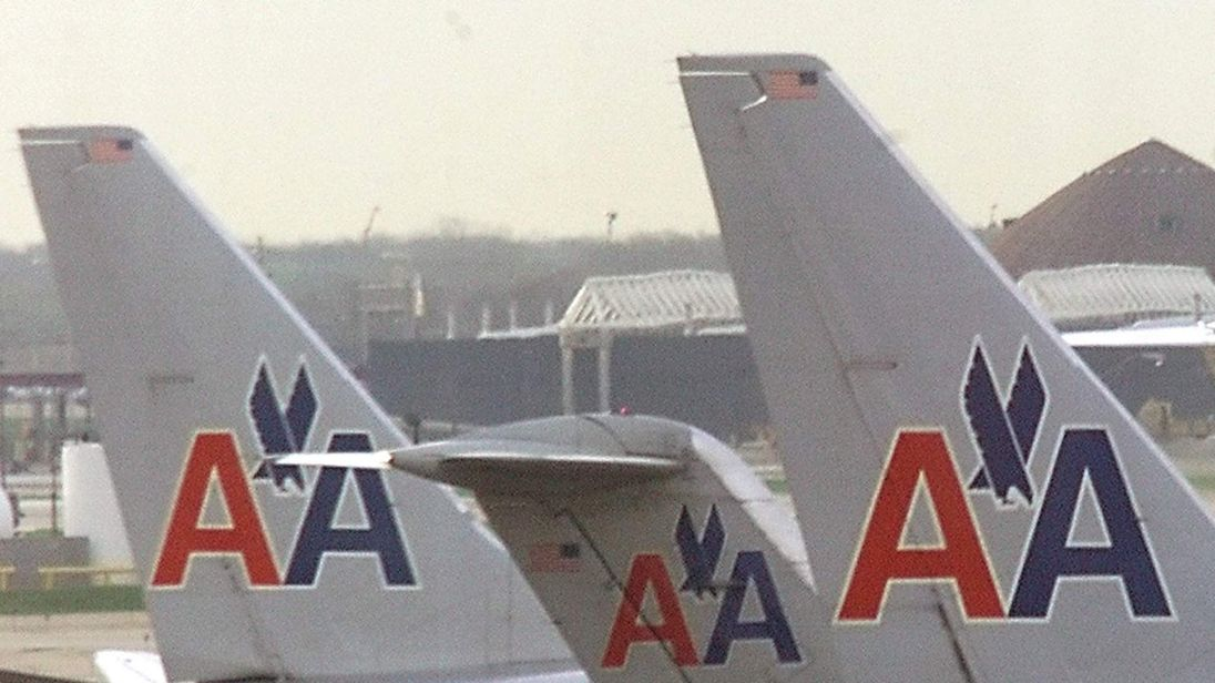 AMERICAN AIRLINES AIRCRAFT PLANES PARKED AT GATES AT CHICAGOS OHAREAIRPORT.