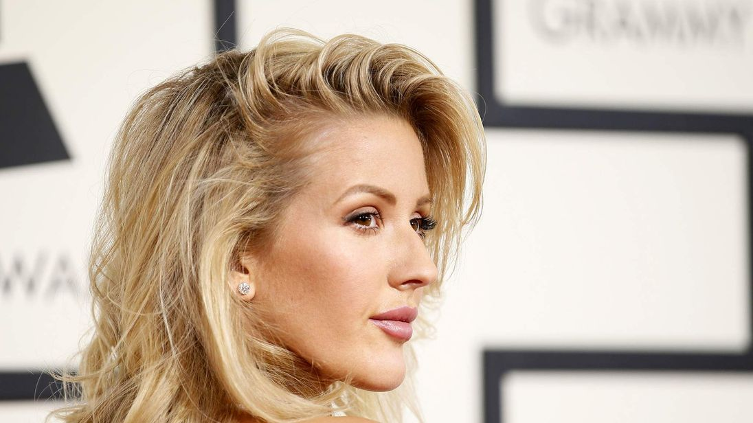 Ellie Goulding arrives at the 58th Grammy Awards in Los Angeles