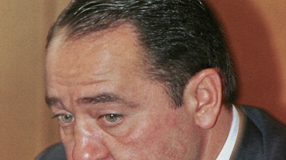 File photo of former Russian Media Minister Mikhail Lesin during a news conference in Moscow
