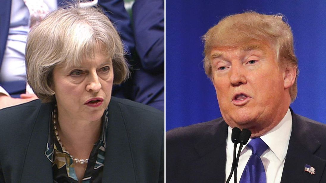 theresa may & donald trump