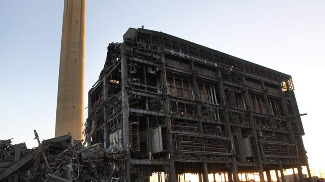 The aftermath of the collapse at Didcot power station.