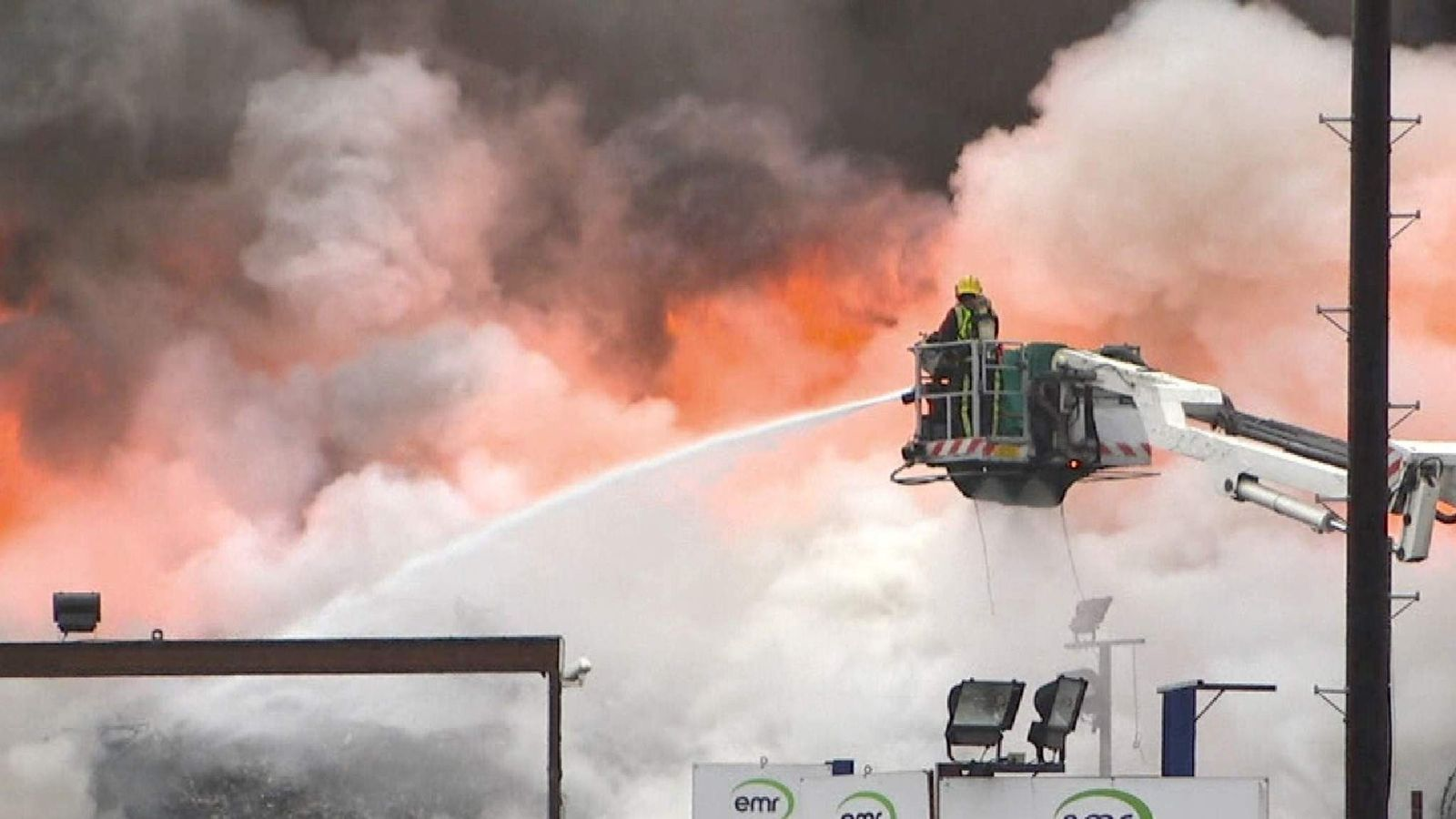 Firefighters tackle blaze at Birmingham recycling centre