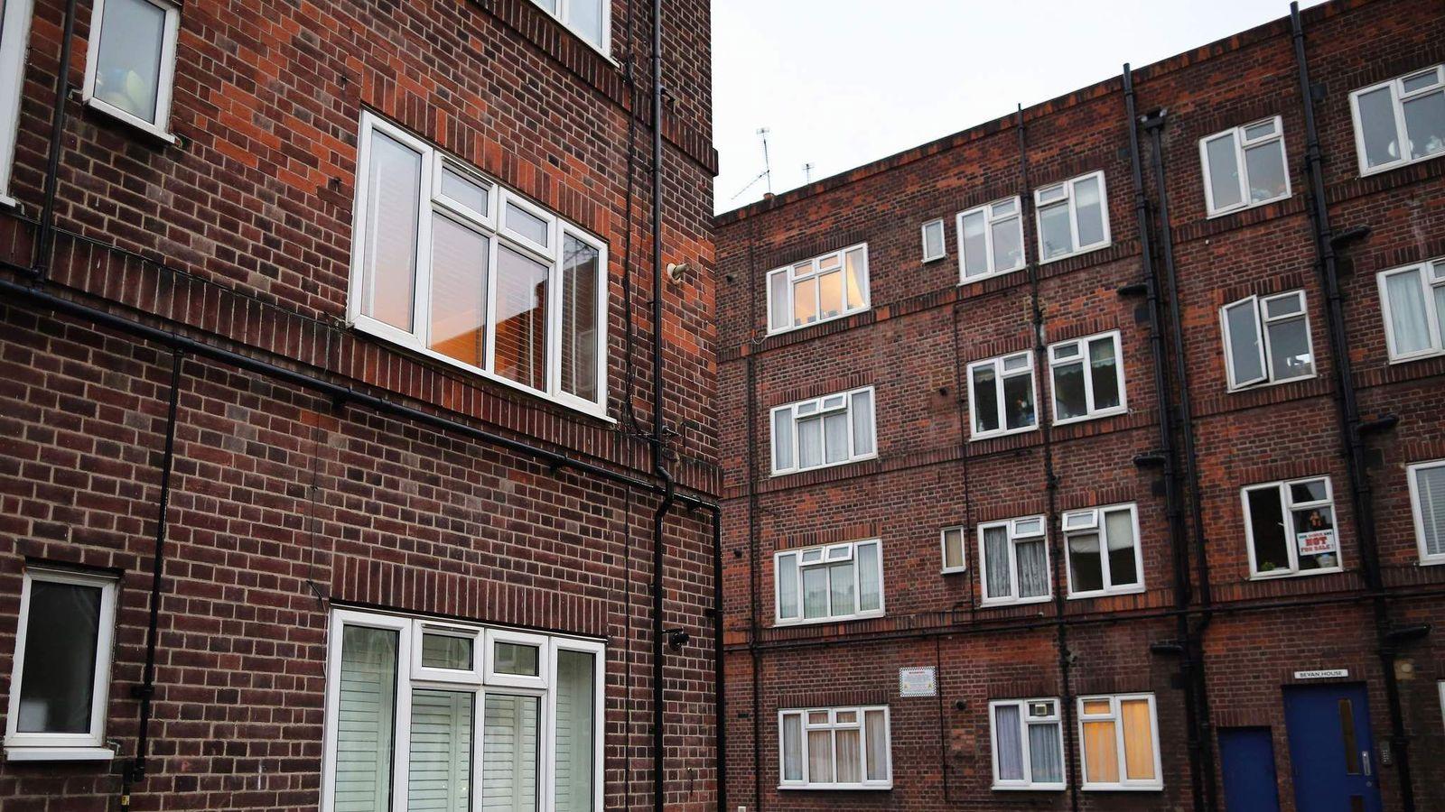 Housing estate in East London