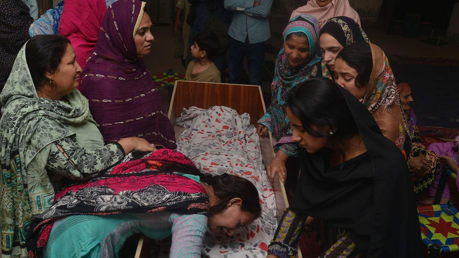 One of the first funerals of victims of the Lahore Easter suicide bombing