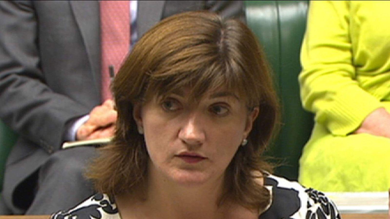 Education Secretary Nicky Morgan addresses the House of Commons