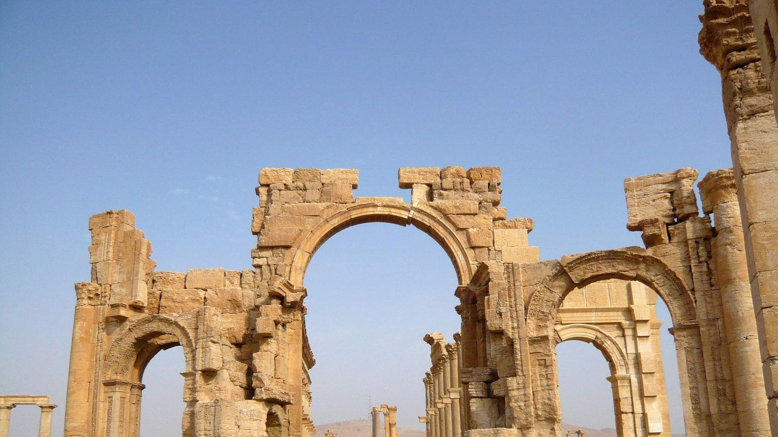 Monumental Arch in the historical city of Palmyra