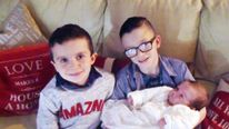 Sean McGrotty with wife Louise, sons Mark (12) and Evan (8), and their sister Rionaghac-Ann