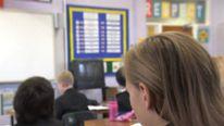 Schoolchildren in a classroom. Pic: File.