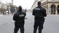 French police stand guard in Paris