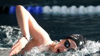 Yusra Mardini of Syria during a training session at the Wasserfreunde Spandau
