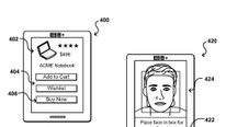An image from Amazon's patent for paying by taking a selfie.