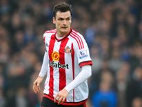 Adam Johnson of Sunderland runs with the ball during the Barclays Premier League match against Everton.