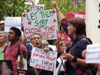 Pro-asylum seeker protest in Australia