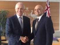 Sajid Javid with Malcolm Turnbull