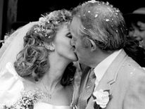 Paul Daniels and Debbie McGee - Wedding Day - Beaconsfield Old Town Registration Office, Buckinghamshire