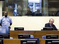 Serbian ultranationalist Vojislav Seselj attends his trial at the UN war crimes tribunal in The Hague