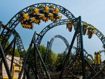 The Smiler rollercoaster at the UK's Alton Towers theme park