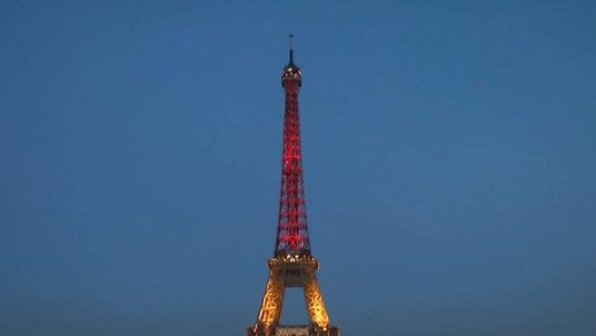 France Shows Solidarity With Brussels By Lighting Up Eiffel Tower