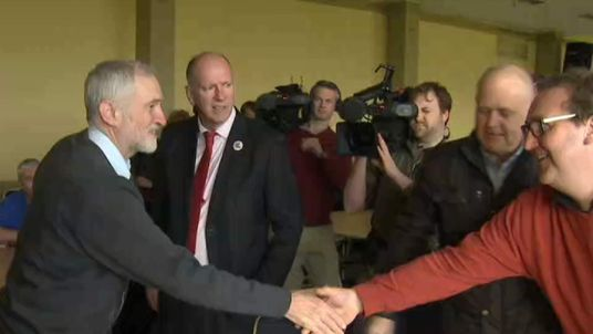 Labour Leader At Port Talbot During Steel Industry Crisis
