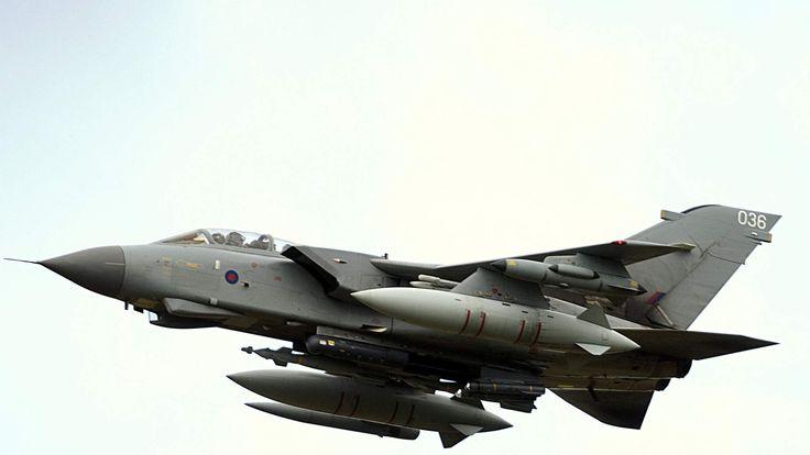 A British RAF Tornado GR4 ground attack