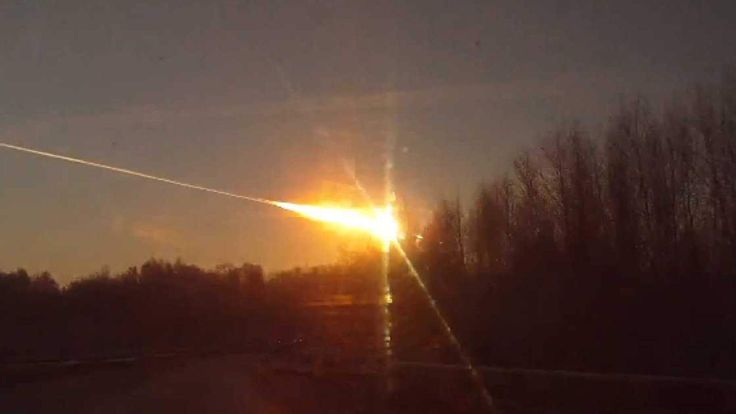This video grab from YouTube footage shows a meteor streaking across the sky in the Chelyabinsk region of central Russia.