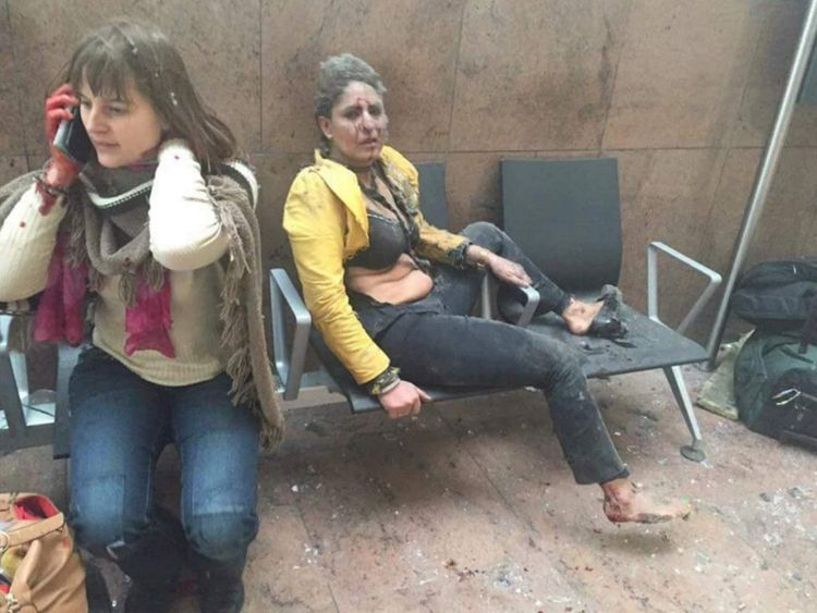 brussels airport terror attack explosions
