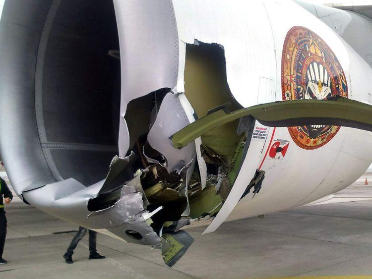 Iron Maiden Jet collision