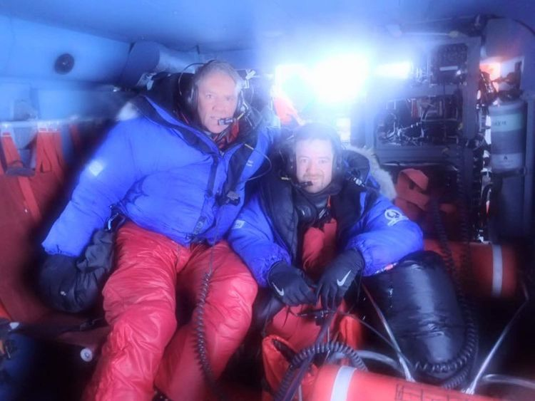 Two British adventurers had to be rescued by American coastguards after getting stranded in Alaska.