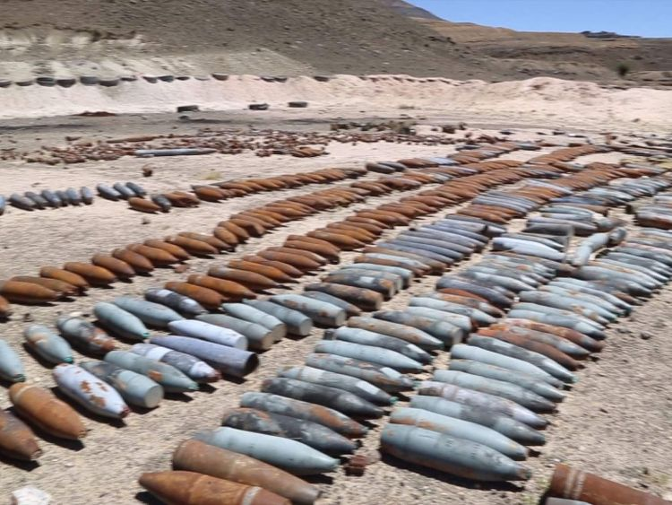 Weapons allegedly dropped in Yemen by Saudi coalition planes 2