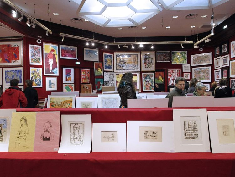 Inside the Drouot on an open day in 2010. The house was created in 1852.