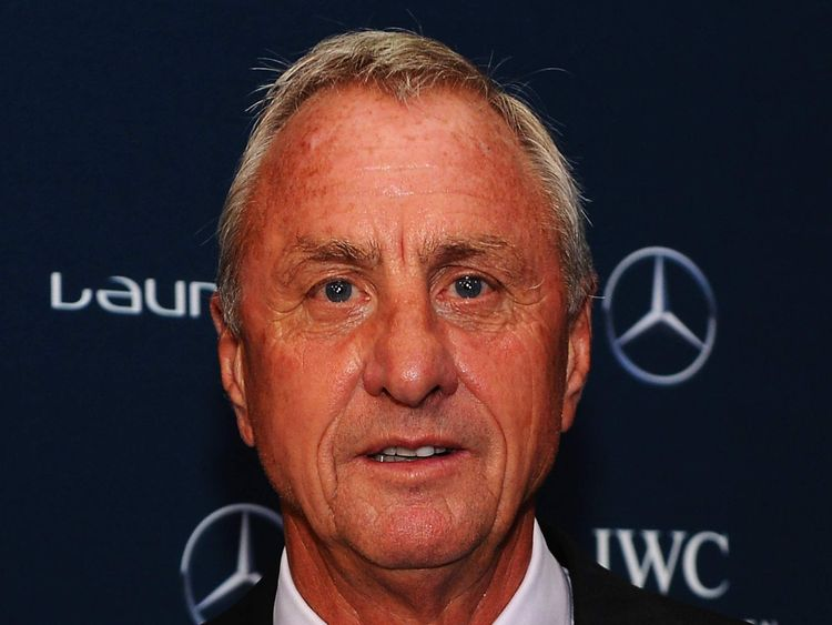 Johan Cruyff attends the 2014 Laureus World Sports Awards