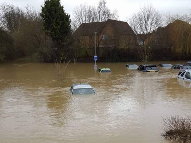 Flooding in Market Harborough