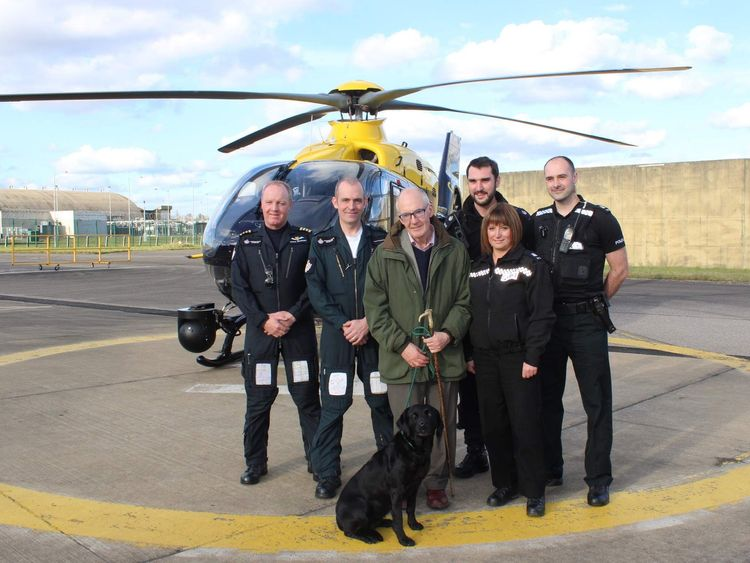 Martin Kay with his rescuers