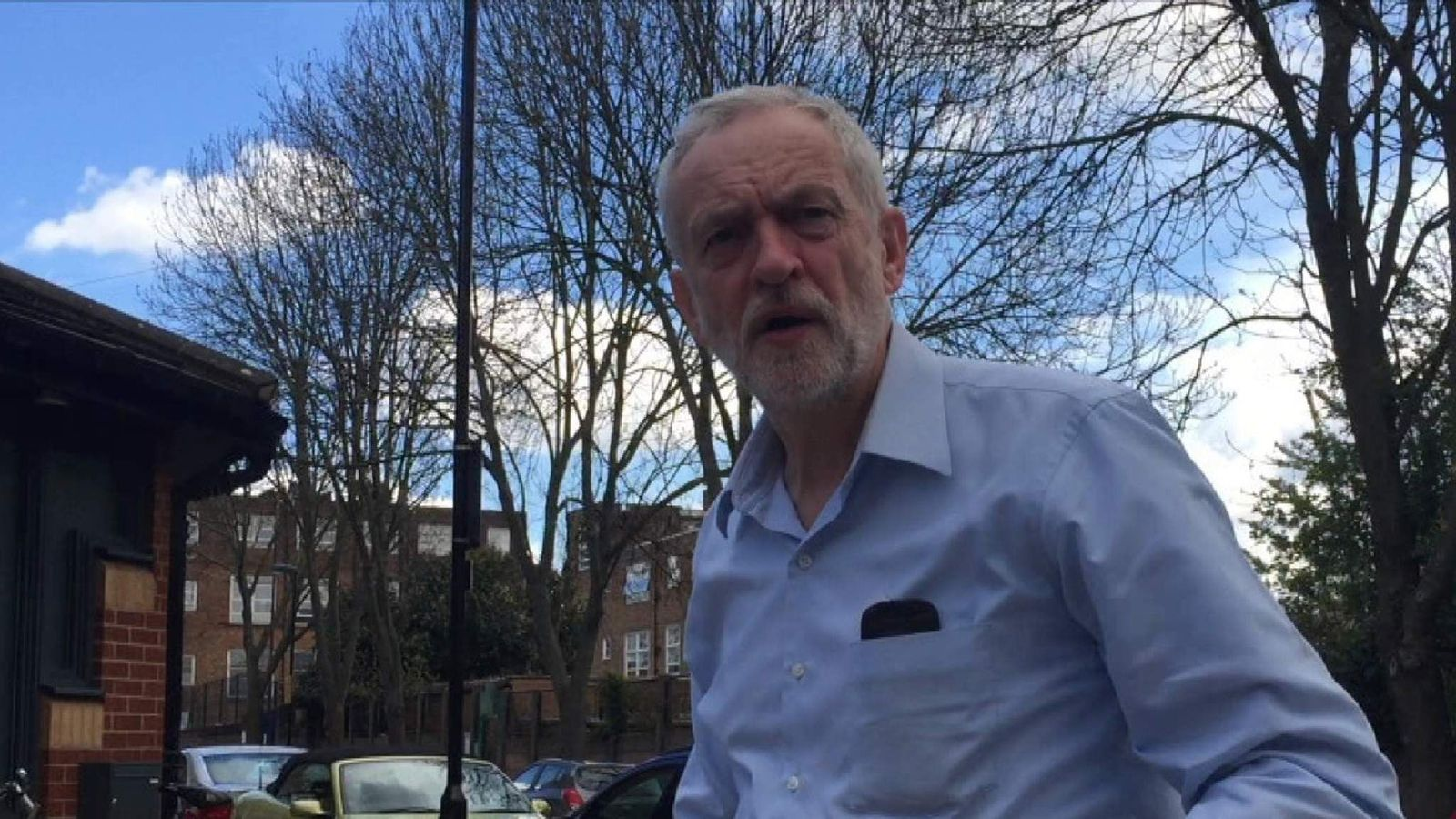 Jeremy Corbyn says nothing in response to questions about anti-Semitism in the Labour Party