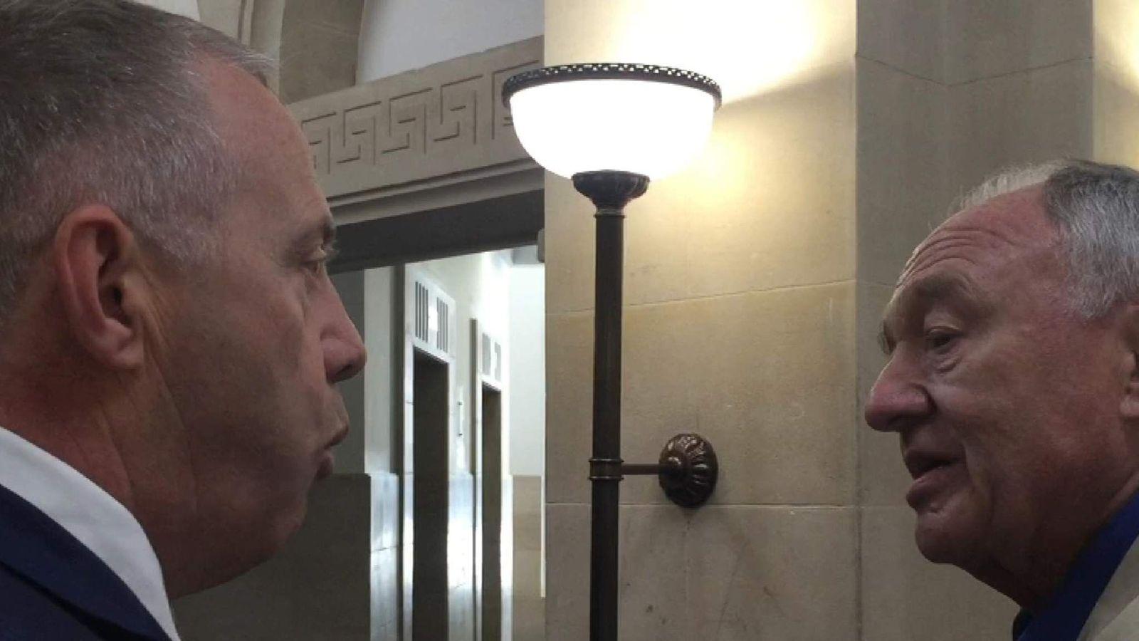 Ken Livingstone Encounters John Mann On Staircase Over Anti-Semite Comments