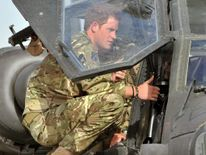 Harry with an Apache helicopter