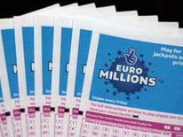 Lottery tickets for the EuroMillions game.
