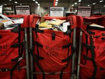 Royal Mail Sorting Bags Postal Workers At The Medway Mail Centre Sort Christmas Post During Their Busiest Week Of The Year