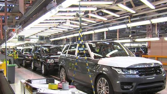 Car production line in Britain