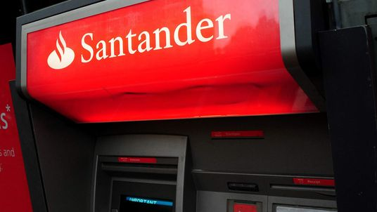 A Santander cash machine. File pic.