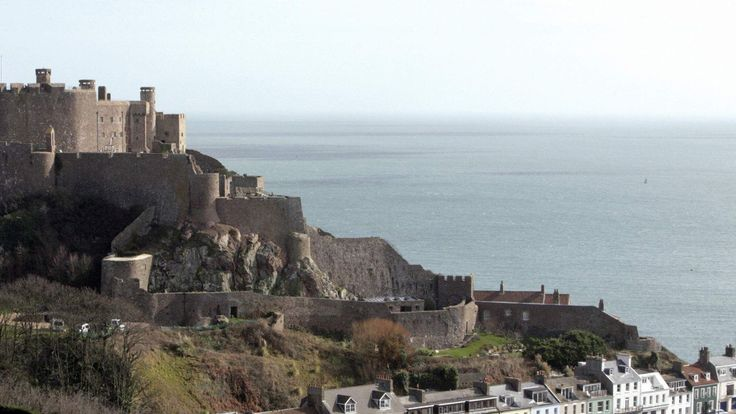 Mont Orgueil Castle is pictured on the island of Jersey