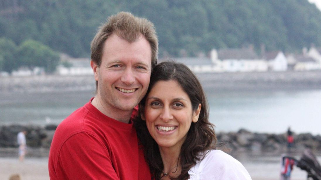 Nazanin Ratcliffe with her husband Richard