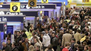 Heathrow arrivals.